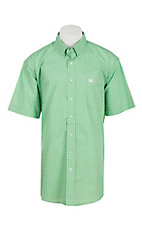 Cinch Men's Green Print Short Sleeve Western Shirt 1111207