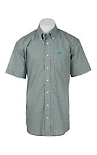 Cinch Men's Grey Diamond Print Short Sleeve Western Shirt