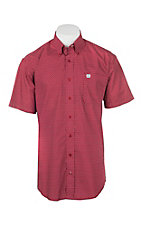 Cinch Men's Red Diamond Print Short Sleeve Cavender's Exclusive Western Shirt