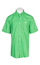 Cinch Men's Green Dollar Sign Print S/S Western Shirt