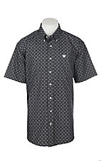 Cinch Men's Black Dot Print S/S Western Shirt