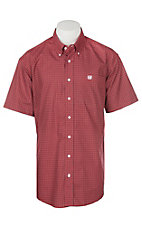 Cinch Men's Red Mini Floral Print S/S Western Shirt