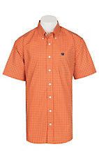 Cinch Men's Orange Circle Print S/S Western Shirt