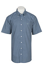 Cinch Men's Navy Oval Print S/S Western Shirt