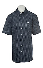 Cinch Men's Floral Navy Print Short Sleeve Western Shirt