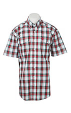 Cinch Men's Red Multi Plaid Short Sleeve Western Shirt