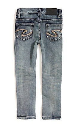 Silver Jeans Girl's Amy Light Wash Slim Cut Jeans