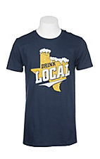 Men's Navy Drink Local S/S T-Shirt