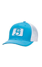 Stackin Bills Turquoise with White Logo and Mesh Snap Back Cap
