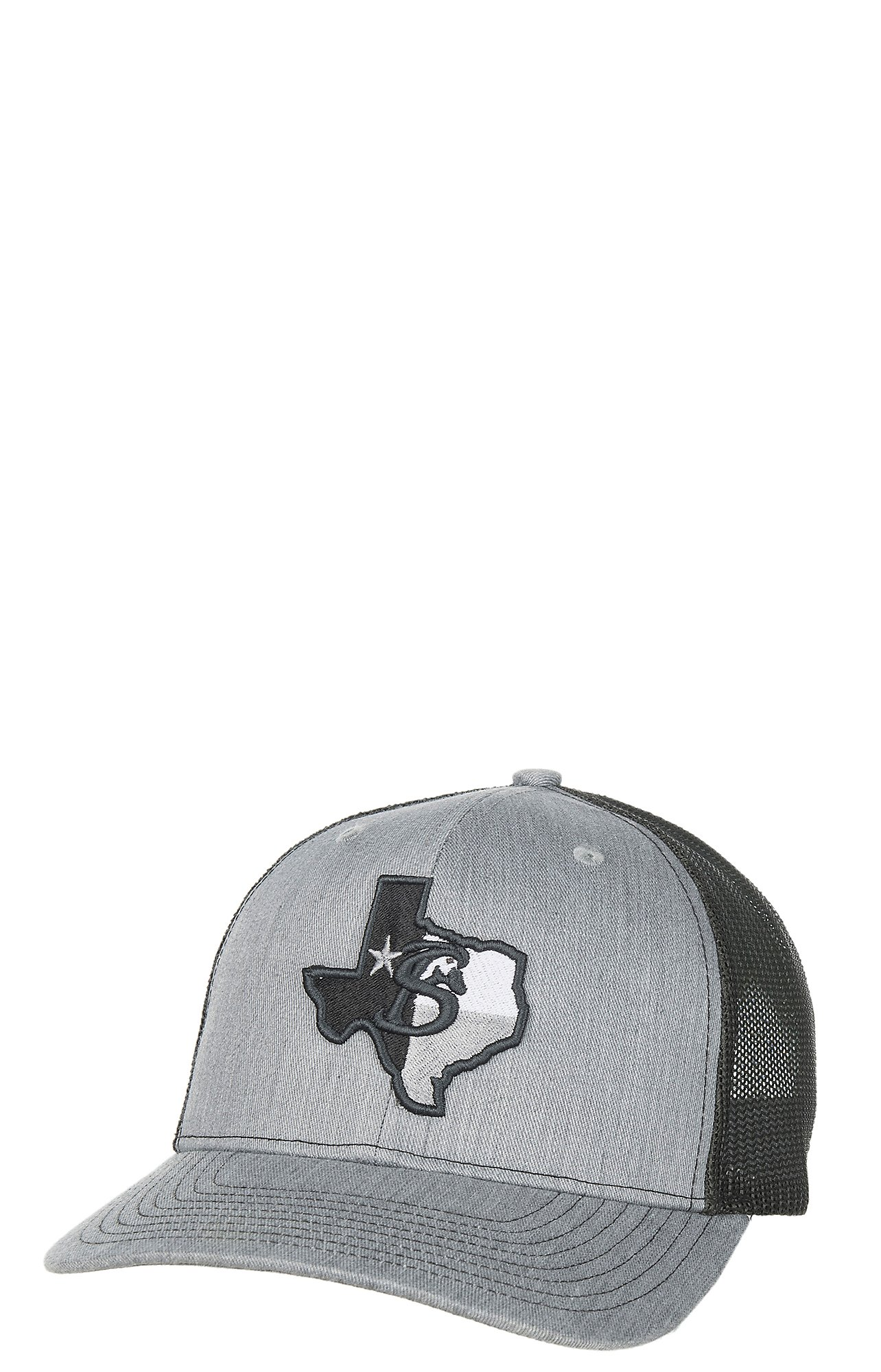 Stackin Bills Grey with Texas Logo Patch and Mesh Snap Back Cap ... 99a98bf0b47