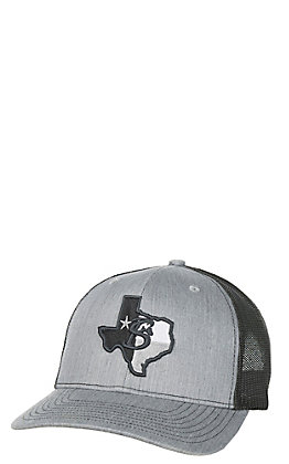 Stackin Bills Grey with Texas Logo Patch and Mesh Snap Back Cap