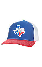 Stackin Bills Blue with Texas Logo Patch and Mesh Snap Back Cap