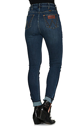 Wrangler Retro Women's Leah Medium Wash High Rise Comfort Stretch Skinny Jean
