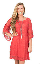 Jody Women's Sherbert 1/2 Bell Sleeve Lace Dress