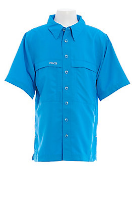 Gameguard Outdoors Youth Atlantic Blue MicroFiber Fishing Shirt
