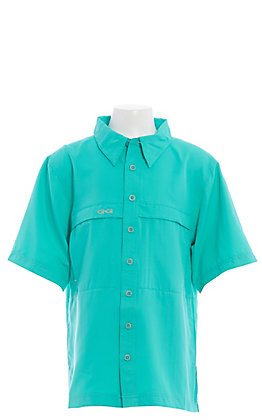 Gameguard Outdoors Youth Caribbean Green MicroFiber Fishing Shirt