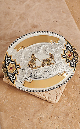 Montana Silversmiths Team Roper Buckle