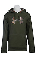 Under Armour Men's Rifle Green with Camo UA Storm Armour Fleece Caliber Hoodie
