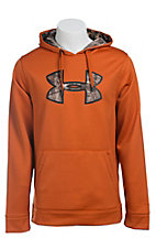 Under Armour Men's Rodeo Orange with Camo UA Storm Armour Fleece Caliber Hoodie