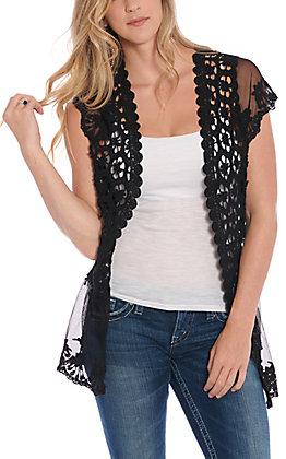 Jody Women's Black Lace Cardigan