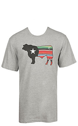 Rafter C Men's Short Sleeve Serape Bull Brand T-Shirt