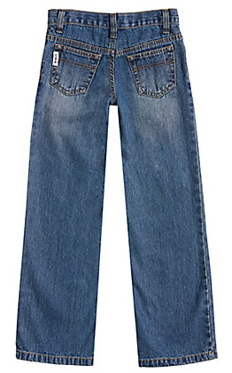 Cinch Boys' White Label Medium Wash Regular Fit Straight Leg Jeans (8-16)