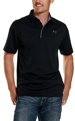 Under Armour Tech Men's Black Short Sleeve Polo Shirt