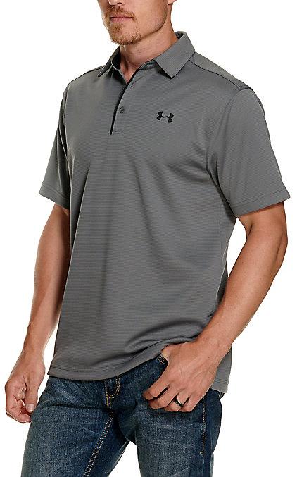 46f42974 Under Armour Tech Men's Dark Grey Short Sleeve Polo Shirt