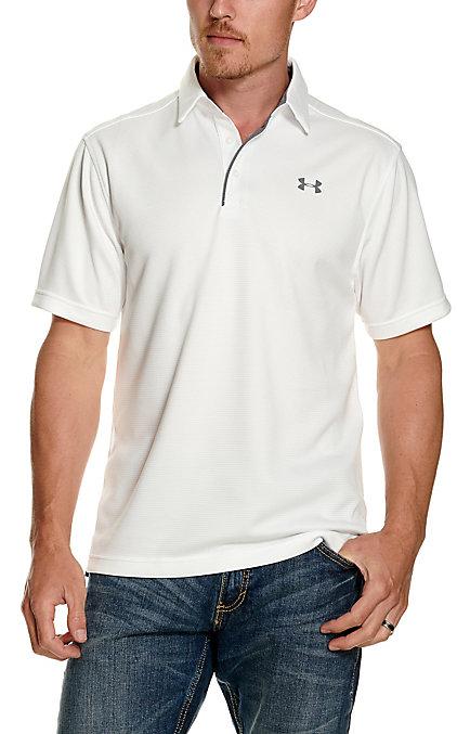 0dc07730 Under Armour Tech Men's White Short Sleeve Polo Shirt