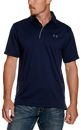 Under Armour Tech Men's Midnight Navy Short Sleeve Polo Shirt
