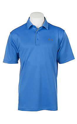 Under Armour Tech Men's Mediterranean Blue Short Sleeve Polo Shirt