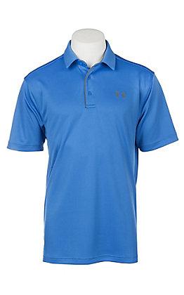 Under Armour Tech Men's Mediterranean Blue S/S Polo Shirt