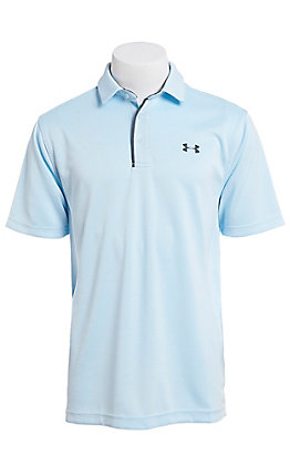 Under Armour Tech Men's Coded Blue S/S Polo Shirt
