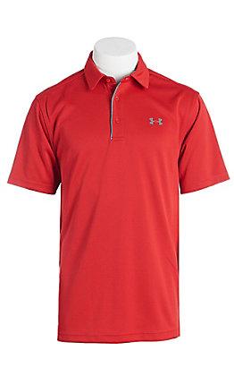 Under Armour Tech Men's Red S/S Polo Shirt