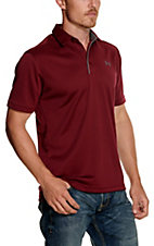 Under Armour Tech Men's Team Maroon S/S Polo Shirt