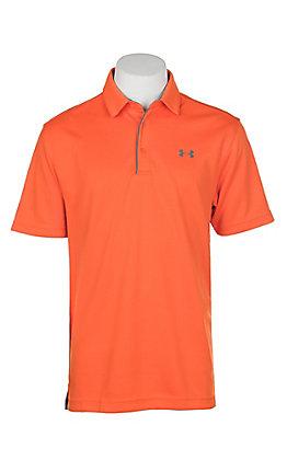 Under Armour Tech Men's Team Orange S/S Polo Shirt
