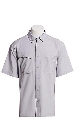 Under Armour Tide Chaser Men's Light Grey Short Sleeve Fishing Shirt