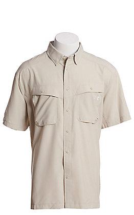 Under Armour Tide Chaser Men's Khaki Base Short Sleeve Fishing Shirt