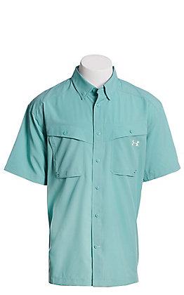 Under Armour Tide Chaser Men's Azure Teel Short Sleeve Fishing Shirt