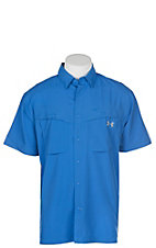Under Armour Tide Chaser Men's Mediterranean Blue Short Sleeve Fishing Shirt