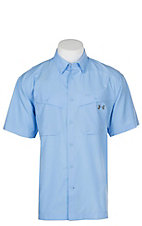 Under Armour Tide Chaser Men's Carolina Blue Short Sleeve Fishing Shirt