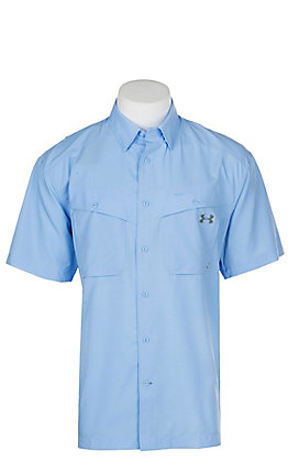 Under Armour Tide Chaser Men's Carolina Blue Short Sleeve Fishing Shirt