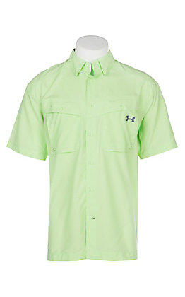 Under Armour Tide Chaser Men's Lumos Lime Short Sleeve Fishing Shirt