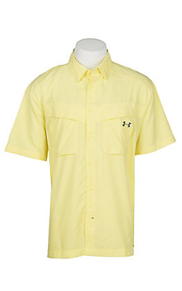 Under Armour Tide Chaser Men's Solid Sol Yellow Short Sleeve Fishing Shirt