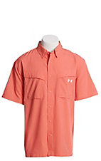 Under Armour Tide Chaser Men's Coral Short Sleeve Fishing Shirt