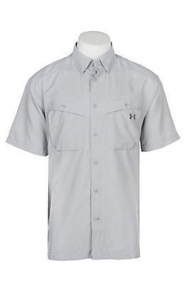 Under Armour Tide Chaser Men's Overcast Grey Short Sleeve Fishing Shirt