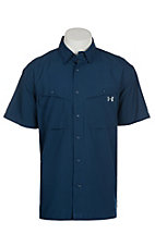 Under Armour Tide Chaser Men's Blackout Navy Short Sleeve Fishing Shirt