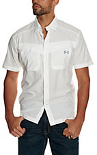 Under Armour Tide Chaser Men's Solid White Short Sleeve Fishing Shirt