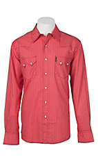 Cinch Men's Red Modern Fit Geometric Long Sleeve Western Snap Shirt