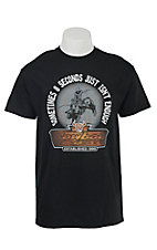 Cowboy Hardware Black 8 Seconds Isn't Enough Short Sleeve Tee